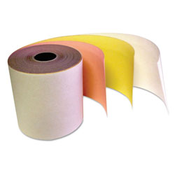 "Impreso Carbonless Receipt Rolls, 3-Ply, 3"" x 67 ft, White/Canary/Pink, 60/Carton"