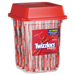 Twizzlers® Strawberry Licorice, Individually Wrapped, 2lb Tub