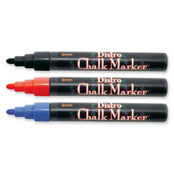 Uchida of America Bistro Chalk Marker,6mm Tip,Erasable,Water-based,Red