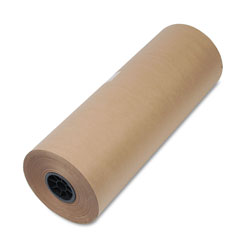 "United 50 lb. Heavyweight Hi Volume Kraft 9"" Dia. Wrapping Paper Roll, 24wx720 ft."