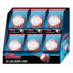Ullman Rotating Magnetic LED Work Light - 6-Pack Display