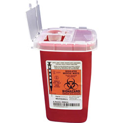 Unimed-Midwest SR1Q100900 Phlebotomy Sharps Container with Clear Lid, 1 Quart