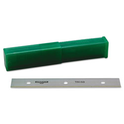 "Unger ErgoTec Glass Scraper Replacement Blades, 6"" Double-Edge, 25/Pack"