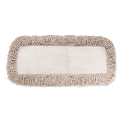 Boardwalk Industrial Dust Mop Head, Hygrade Cotton, 24w x 5d, White
