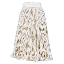 Boardwalk Cut-End Wet Mop Head, Cotton, No. 16, White, 12/Carton