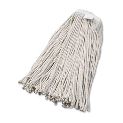 Boardwalk Cut-End Wet Mop Head, Cotton, No. 32, White, 12/Carton