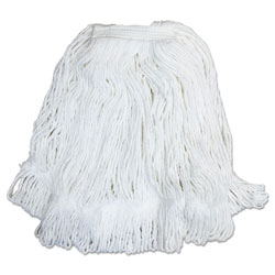 "Boardwalk Pro Loop Web/Tailband Mop Head, White, #32, Rayon, 1.3"" Headband, 12/Carton"