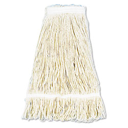 Boardwalk Pro Loop Web/Tailband Wet Mop Head, Cotton, 24oz, White, 12/Carton