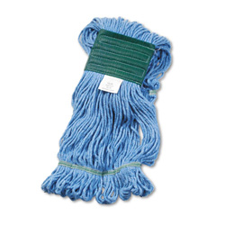Unisan Super Loop Wet Mop Head, Medium Size, Cotton/Synthetic Yarn, Blue