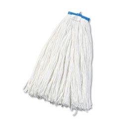 Boardwalk Cut-End Lie-Flat Wet Mop Head, Rayon, 24oz, White, 12/Carton