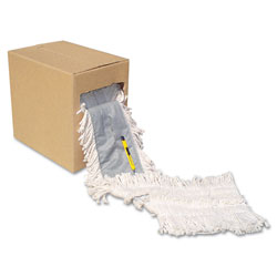 "Boardwalk Flash Forty Disposable Dustmop, Cotton, 5"", Natural"