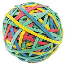 "Universal Rubber Band Ball, 3"" Size, 2 3/4"" Length, 260 Bands"