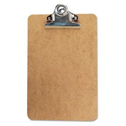 "Universal Clipboard w/High-Capacity Clip, 1"" Capacity, Holds 6w x 9h, Brown"