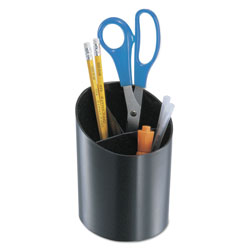 Universal Big Cup Divided Pencil Holder, 5 3/4 x 4 1/4, Black