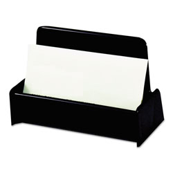Universal Business Card Holder, 50-Card Capacity, Black