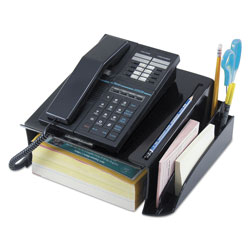 Universal Telephone Stand and Message Center, 12-1/4w x 10-1/2d x 5-1/4h, Black