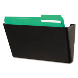 Universal Recycled Plastic Wall File, Add-On Pocket, Black