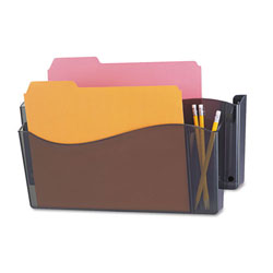 Universal Unbreakable 4-in-1 Plastic Wall File, 2 Pockets, Smoke