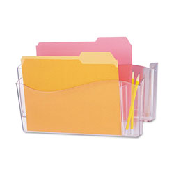 Universal Unbreakable 4-in-1 Plastic Wall File, 2 Pockets, Clear