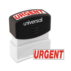 "Universal APre-Inked ""URGENT"" Message Stamp, 9/16 x 1 11/16, Red"
