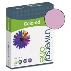 Universal Premium Colored Copier/Laser Printer Paper, 8 1/2 x 11, Orchid, 500 Sheets/Ream