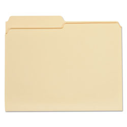 Universal Manila File Folders, 1 Ply Top Tabs, 1/2 Cut, Letter Size, 100/Box