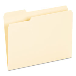 Universal Recycled Interior File Folders, Letter Size, 1/3 Cut, Manila, 100/Box
