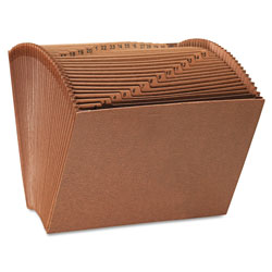 Universal Leather-Like Expanding File, Open Top, 12 x10, 1-31, Letter, 1/Each