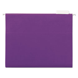 Universal Recycled Bright Color Hanging File Folders, Letter Size, 1/5 Cut, Violet, 25/Box