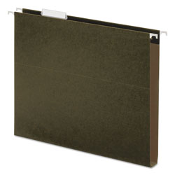 "Universal Hanging Box Bottom Folders, Standard Green, Letter Size, 1"" Expansion, 25/Box"