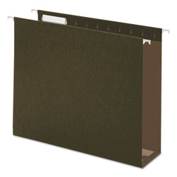 "Universal Hanging Box Bottom Folders, Standard Green, Letter Size, 3"" Expansion, 25/Box"