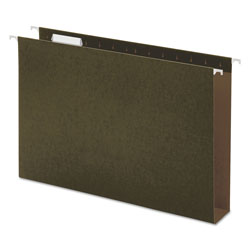 "Universal Hanging Box Bottom Folders, Standard Green, Legal Size, 2"" Expansion, 25/Box"