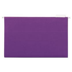 Universal Recycled Bright Color Hanging File Folders, Legal Size, 1/5 Cut, Violet, 25/Box