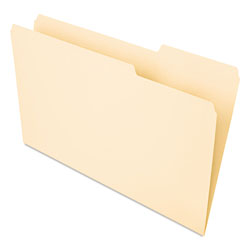 Universal Recycled Interior File Folders, Legal Size, 1/3 Cut, Manila, 100/Box