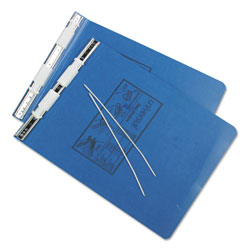 Universal Pressboard Hanging Data Binder for 9 1/2 x 11 Unburst Sheets, Blue