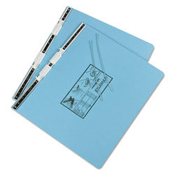Universal Pressboard Hanging Data Binder for 14 7/8 x 11 Unburst Sheets, Light Blue