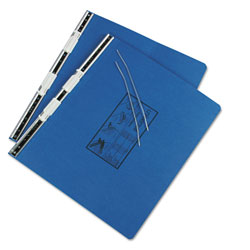 Universal Pressboard Hanging Data Binder for 14 7/8 x 11 Unburst Sheets, Blue