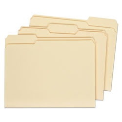 Universal Manila File Folders, 2 Ply Top Tabs, 1/3 Cut, Assorted, Letter Size, 100/Box