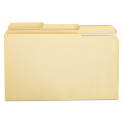 Universal Manila File Folders, 2 Ply Top Tabs, 1/3 Cut, Assorted, Legal Size, 100/Box