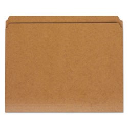 Universal Letter Size Brown Kraft File Folders, 2 Ply Top Tabs, Straight Cut, 100/Box