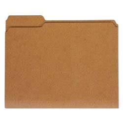 Universal Letter Size Brown Kraft File Folders, 2 Ply Top Tabs, 1/3 Cut, Assorted, 100/Box