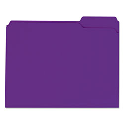 Universal File Folders, 2 Ply Top Tabs, 1/3 Cut, Assorted, Violet, Letter Size, 100/Box