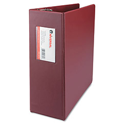 "Universal 44% Recycled D-Ring Binder, 4"" Capacity, Red"
