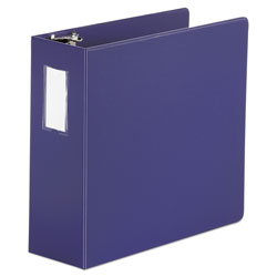 "Universal 44% Recycled D-Ring Binder, 4"" Capacity, Blue"