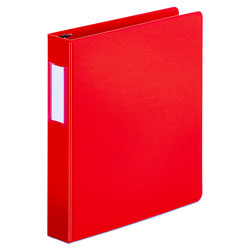"Universal 49% Recycled D-Ring Binder, 1 1/2"" Capacity, Red"