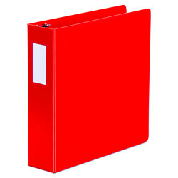 "Universal 47% Recycled D-Ring Binder, 2"" Capacity, Red"