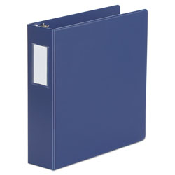"Universal 47% Recycled D-Ring Binder, 2"" Capacity, Blue"