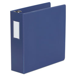 "Universal 48% Recycled D-Ring Binder, 3"" Capacity, Blue"