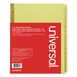 Universal 1-31 Index Tabs, White