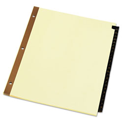 Universal A-Z Index Tabs, Yellow
